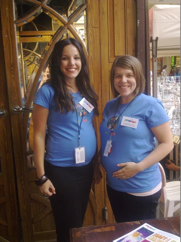 AWESOME Festival 2011 - Amanda & Amanda both circa 6 months pregnant
